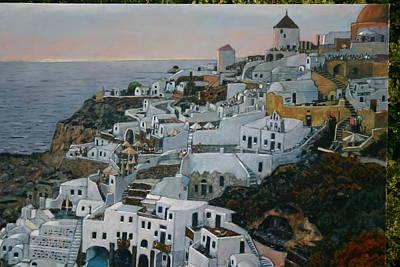 Painting - Santorini by Joe Jaqua