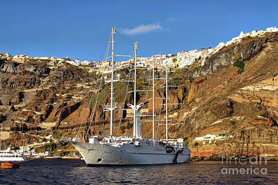 Photograph - Santorini Landing Port   by Teresa Zieba