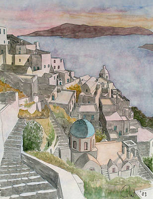 Painting - Santorini by Rod Jones