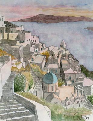 Atlantis Painting - Santorini by Rod Jones