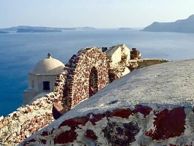 Photograph - Santorini Rooftop by Leslie Brashear