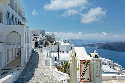 Photograph - Santorini Sights by Kay Brewer