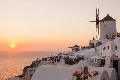 Photograph - Santorini Sunset by Chris Deeney