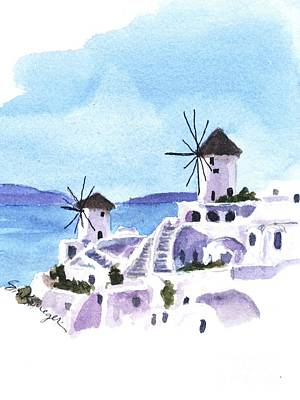 Painting - Santorini by Suzanne Krueger
