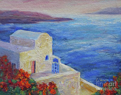 Painting - Santorini View by Carolyn Jarvis