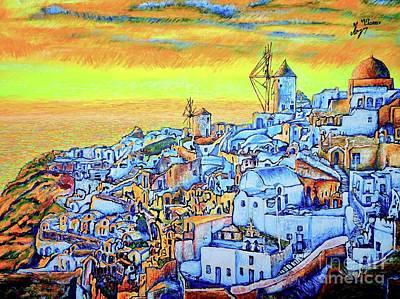 Painting - Santorini by Viktor Lazarev