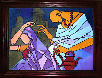 Indian Fine Art Painting - Sanyasi-ii by Shikha A Pandey