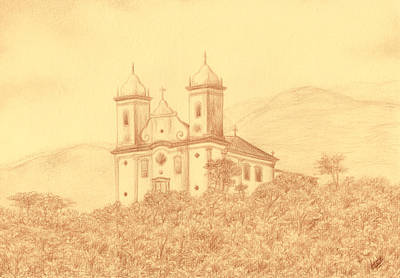 Sao Francisco De Paula Church Art Print by Enaile D Siffert