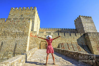 Photograph - Sao Jorge Castle Tourist by Benny Marty