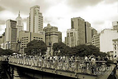 Photograph - Sao Paulo, Brazil - Downtown - Santa Ifigenia Overpass by Carlos Alkmin
