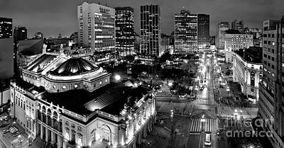 Photograph - Sao Paulo Downtown - Viaduto Do Cha And Around by Carlos Alkmin
