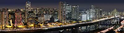 Photograph - Sao Paulo Iconic Skyline - Cable-stayed Bridge  by Carlos Alkmin