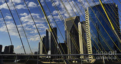 Photograph - Sao Paulo - Stayed Bridge Ponte Estaiada by Carlos Alkmin