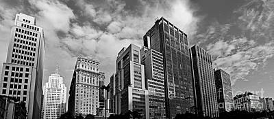 Photograph - Sao Paulo - Vale Do Anhangabau - Main Buildings by Carlos Alkmin