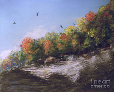 Painting - Soaring Over The North Rim, Autumn by Susan Sarabasha