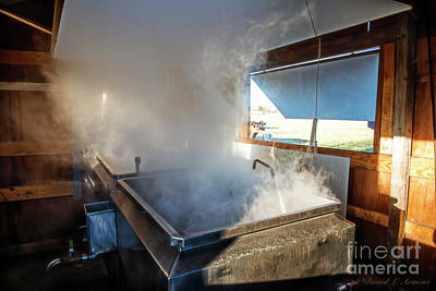 Photograph - Sap Boiler At Amish Farm by David Arment