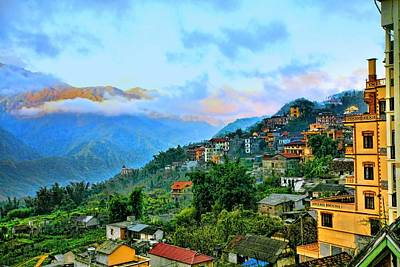 Chuck Kuhn Photograph - Sapa Village by Chuck Kuhn