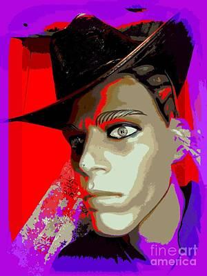 Cowboy Hat Mixed Media - Sapce Cowboy by Ed Weidman
