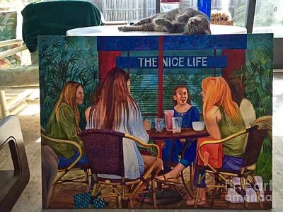 Saphira And The Nice Life Art Print by AnnaJo Vahle
