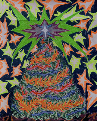 Painting - Sapin Noel 2 by Robert SORENSEN