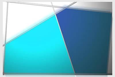 Digital Art - Sapphire And Slate by John WR Emmett