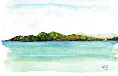 Painting - Sapphire Bay 2 by Paul Gaj