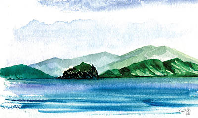 Sapphire Bay Art Print