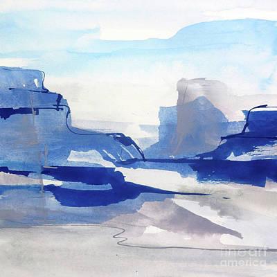Wall Art - Painting - Sapphire Cliff II by Chris Paschke