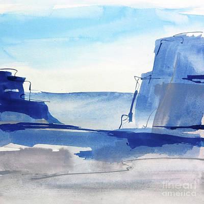 Wall Art - Painting - Sapphire Cliffs I by Chris Paschke