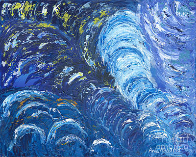 Painting - Sapphire Is The Color Of Your Energy by Ania M Milo