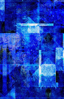 Popular Mixed Media - Sapphire Nebulae by Aaron Carberry