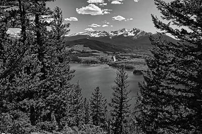 Photograph - Sapphire Point 2 Black And White by Judy Vincent