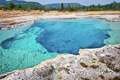 Sapphire Photograph - Sapphire Pool, Biscuit Basin by Delphimages Photo Creations