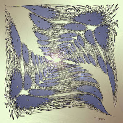 Wall Art - Digital Art - Sapphire Tunnel by Warren Lynn