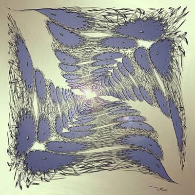 Digital Art - Sapphire Tunnel by Warren Lynn