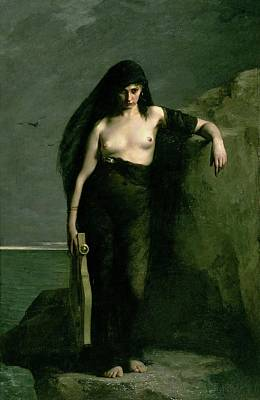 Lesbos Painting - Sappho by Auguste Mengin