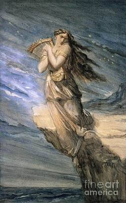Sappho Leaping Into The Sea From The Leucadian  Art Print