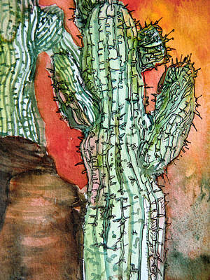 Saquaros Art Print