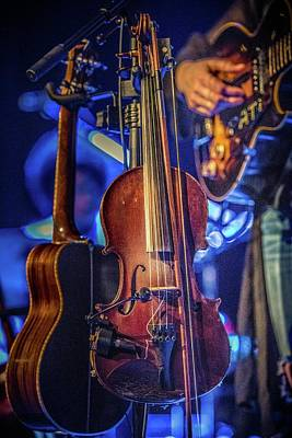 Photograph - Sara Watkins's Fiddle by Mark Peavy