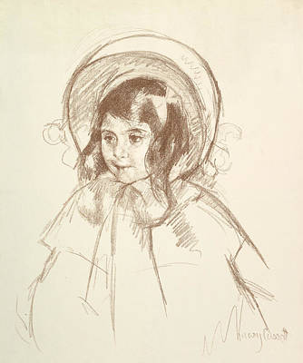 Relief - Sara Wearing Her Bonnet And Coat by Mary Cassatt