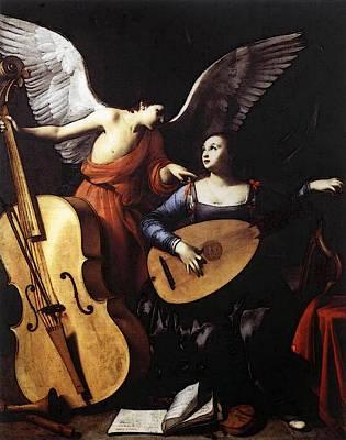Saraceni Carlo Saint Cecilia And The Angel Art Print