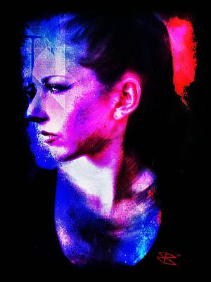 Print featuring the digital art Sarah 2 by Mark Baranowski
