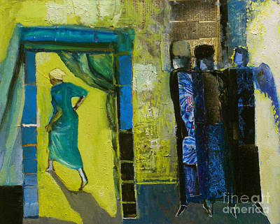 Angel Blues Painting - Sarah And The Three Angels by Richard Mcbee
