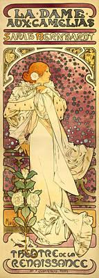 Painting - Sarah Bernhardt by Alphonse Mucha