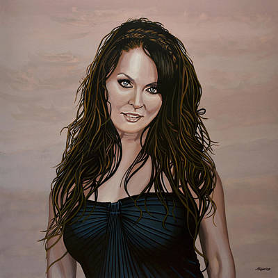 Sarah Brightman Print by Paul Meijering