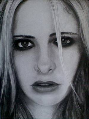 Sarah Michelle Gellar Drawing - Sarah Michelle by Brendan SMITH
