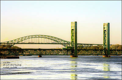 Photograph - Sarah Mildred Long Bridge And The I-95 Bridge Into Maine by Mark Alesse