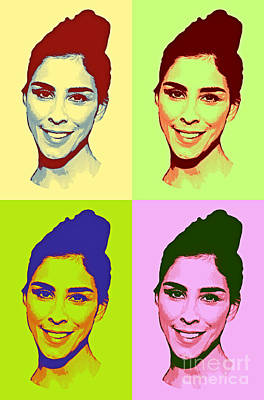 Saturday Night Live Painting - Sarah Silverman Pop Art by Pd