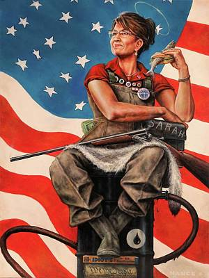 Republican Painting - Sarah The Savior by Dan  Nance