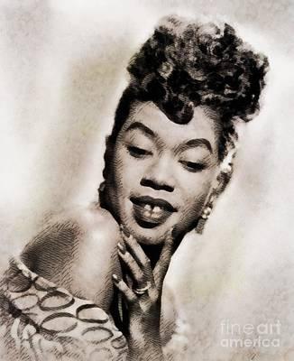 Musicians Royalty Free Images - Sarah Vaughan, Vintage Jazz Singer by John Springfield Royalty-Free Image by John Springfield